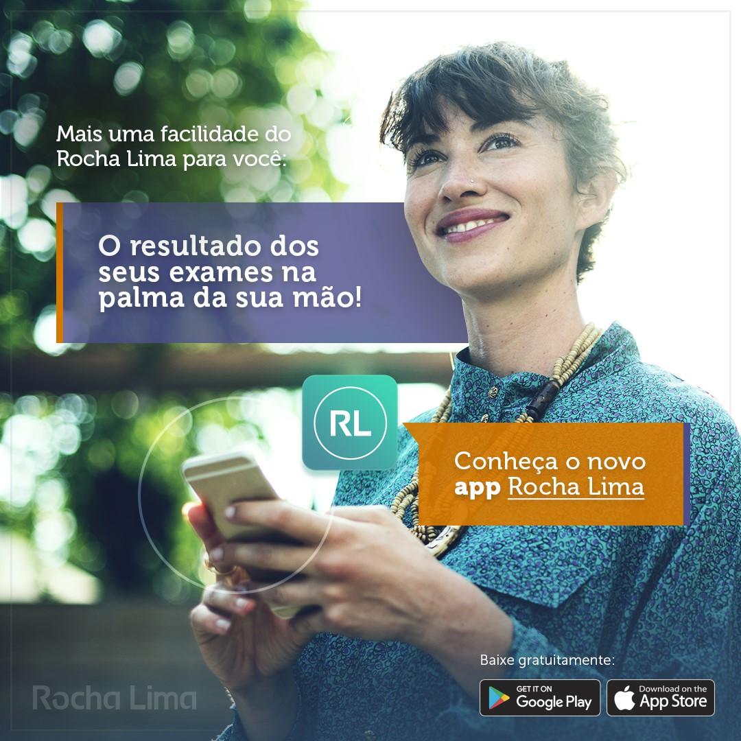 App oficial do laboratório Rocha Lima já está disponível!